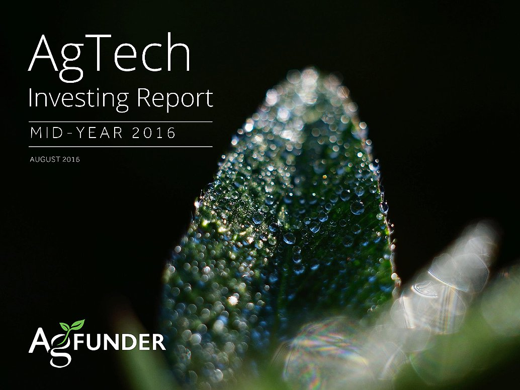 AgTech Mid-Year Investing Report - 2016